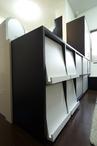 カウンター収納・壁面収納・ベンチで構成したオリジナル収納家具。 T様ご利用中の...