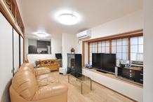 愛着のあるわが家を耐震リフォーム LDKは床暖房で快適!
