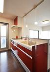 廊下のスペースを取込み壁付け型から対面型キッチン(クリナップ/クリンレディI...