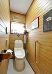 気に入っている壁の化粧板はそのままに、便器のみを手洗い器付きのTOTO/GG3-800に...